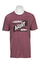 Ariat Men's Burgundy Wrap and Weft Graphic S/S T-Shirt