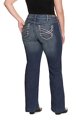 Ariat Women's Entwined Mid Rise Stretch Trouser Jeans - Plus Sizes