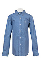 Ariat Boy's Cavender's Exclusive Washed Cobalt Lucky Long Sleeve Western Shirt