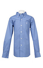 Ariat Boy's Cavender's Exclusive Muscari Silverado Long Sleeve Stretch Print Western Shirt