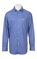 Ariat Men's Cavender's Exclusive Houston Long Sleeve Stretch Print Western Shirt