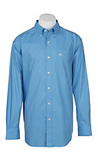 Ariat Men's Light Blue Jonah Print L/S Cavender's Exclusive Western Shirt - Big and Tall