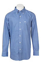 Ariat Men's Cavender's Exclusive Washed Cobalt Lucky Long Sleeve Western Shirt - Big & Tall