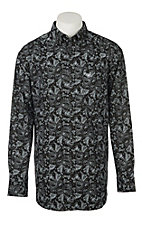 Ariat Men's Cavender's Exclusive Black Paisley Olex Long Sleeve Western Shirt