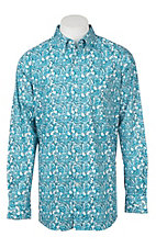 Ariat Men's Cavender's Exclusive Atomic Blue Tedrick Long Sleeve Western Shirt