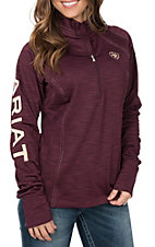 Ariat TEK Women's Conquest Burgundy Fleece Lined Pullover Jacket