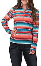 Ariat TEK Women's Conquest Red, Orange and Turquoise Serape Print Fleece Lined Pullover Jacket