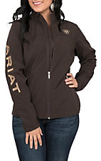 Ariat Women's Coffee Bean Logos Long Sleeve Soft Shell Jacket