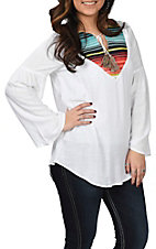 Ariat Women's Acacia Serape Bell Sleeve Fashion Top