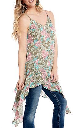 Ariat Women's Camo Floral Print Tank