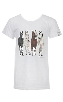 Ariat Girls White 360 View Horse T-Shirt