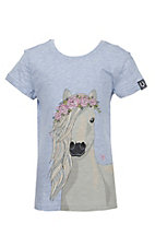 Ariat Girls Chambray Heather Festival Horse T-Shirt