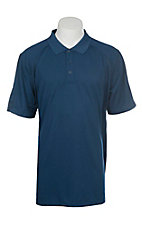 Ariat Men's Bright Indigo Heat Series Tek Polo Shirt
