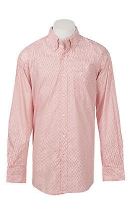 Ariat Men's Darner Long Sleeve Stretch Print Western Shirt