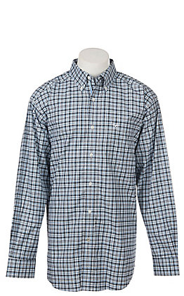 Ariat Men's Stretch Davis Plaid Print Long Sleeve Western Shirt