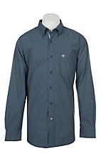 Ariat Men's Denero Perfect Navy Plaid Long Sleeve Western Shirt