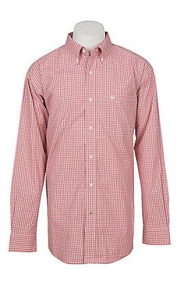Ariat Pro Series Men's Orange Drasco Plaid Western Shirt