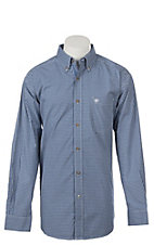 Ariat Men's Pro Series True Blue Eagan Plaid Long Sleeve Western Shirt