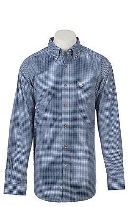 Ariat Men's Pro Series True Blue Eagan Plaid Long Sleeve Western Shirt
