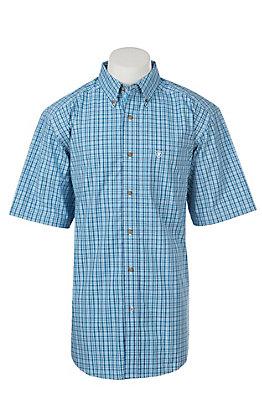 Ariat Pro Series Eatherton Plaid Short Sleeve Western Shirt