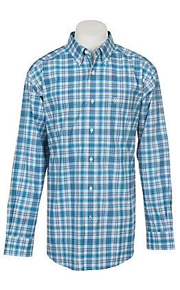 Ariat Pro Series Ebbing Plaid Long Sleeve Western Shirt