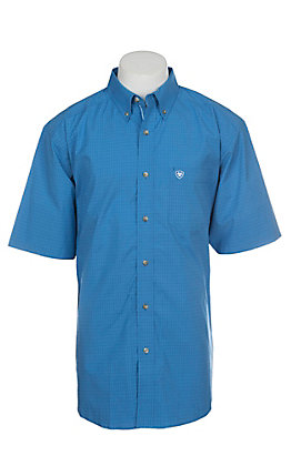 Ariat Pro Series Eberman Perf Plaid Short Sleeve Western Shirt