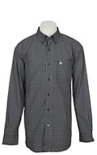 Ariat Men's Pro Series Black Ebstein Plaid Long Sleeve Western Shirt