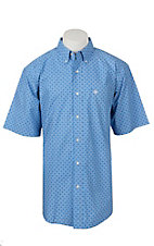 Ariat Men's Blue Egon Print Short Sleeve Western Shirt
