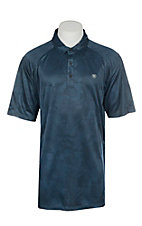 Ariat Men's Camo Blue Pine Heat Series Tek Polo Shirt