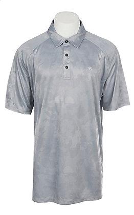 Ariat Men's Camo Sleet Grey Heat Series Tek Polo Shirt