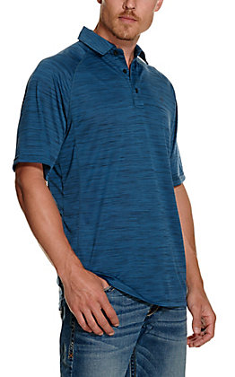 Ariat Men's Charger Blue Heat Series Polo Shirt
