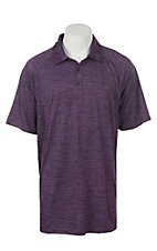 Ariat Men's Charger Purple Pennant Heat Series Tek Polo Shirt