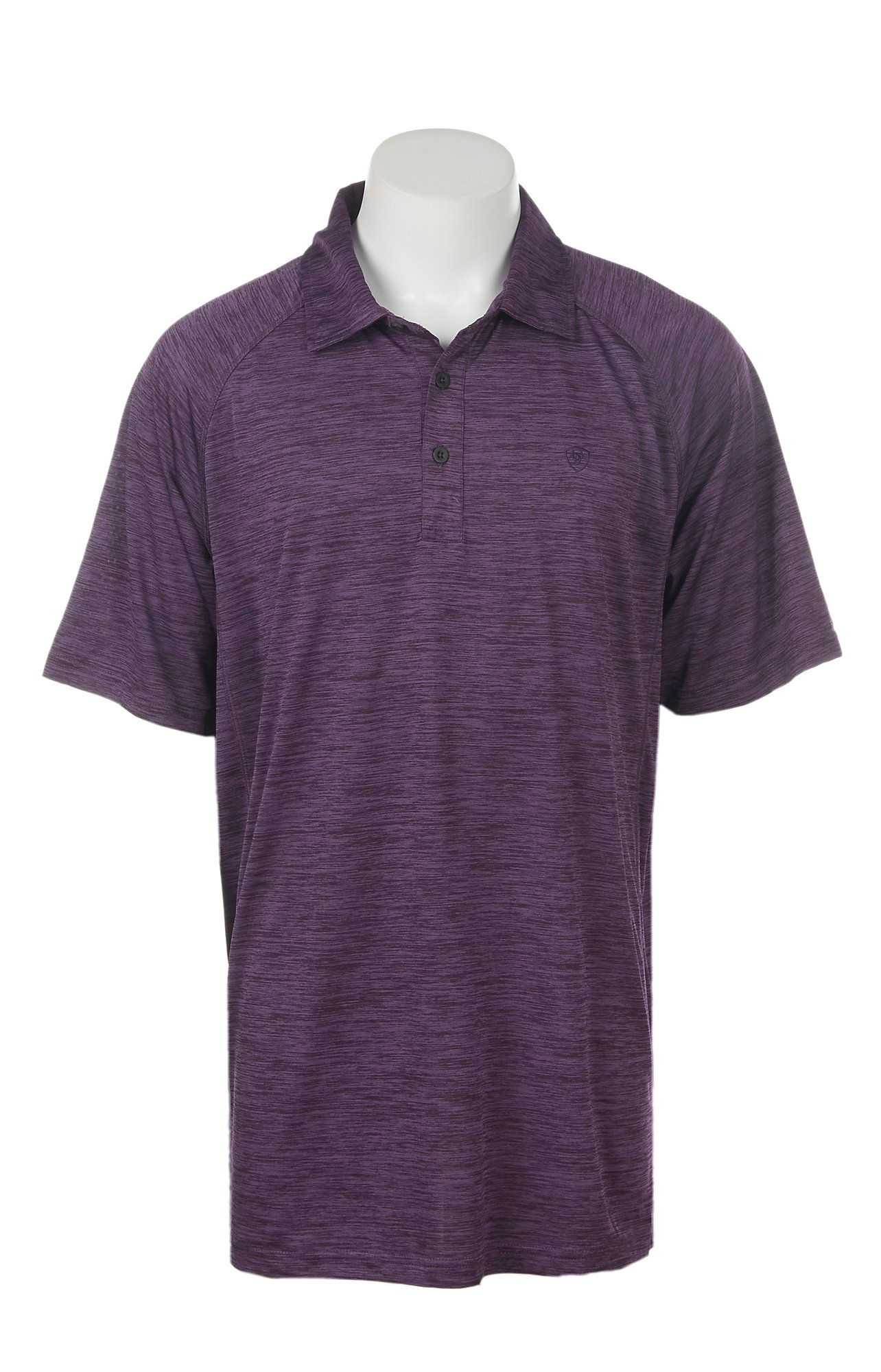 Ariat Mens Charger Purple Pennant Heat Series Tek Polo Shirt