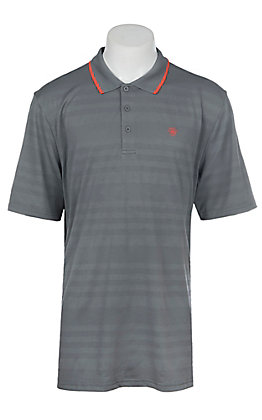 Ariat Men's Edge Shadow Grey Heat Series Tek Polo Shirt