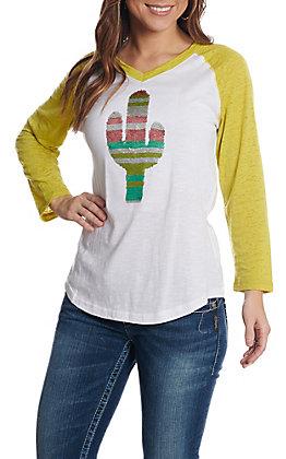 Ariat Women's Saguaro Raglan Reverse Sequin T-Shirt