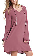 Ariat Women's Flora Plum Bell Sleeve Dress