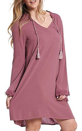 Ariat Women's Flora Plum Bell Sleeve Dress