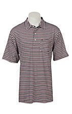 Ariat Men's Spry Navy Stripe Heat Series Tek Polo Shirt