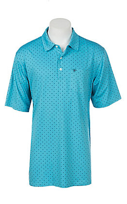 Ariat Men's Turquoise Reef Heat Series Tek Polo Shirt
