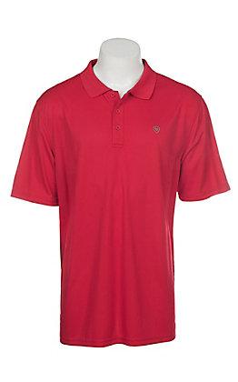Ariat Men's Crimson Flame Heat Series Tek Polo Shirt