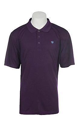 Ariat Men's Purple Pennant Heat Series Tek Polo Shirt