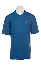 Ariat Men's True Blue Heat Series Tek Polo Shirt