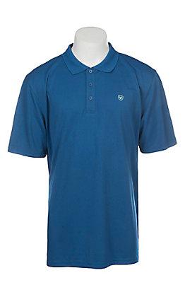 Ariat Men's True Blue Heat Series Tek Polo Shirt