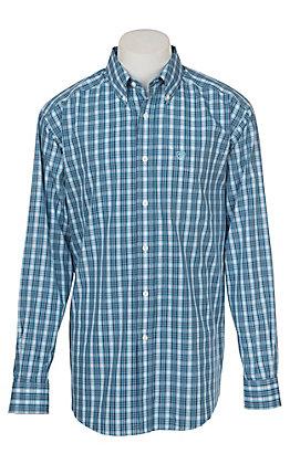 Ariat Men's Wrinkle Free Royal Sapphire Kadric Print Long Sleeve Western Shirt