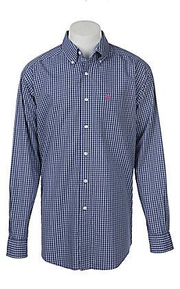 Ariat Men's Wrinkle Free Royal Sapphire Kaiman Print Long Sleeve Western Shirt