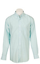 Ariat Men's Wrinkle Free Solid Light Blue PintPoint Oxford Long Sleeve Western Shirt