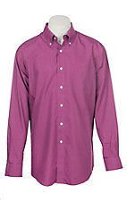 Ariat Men's Wrinkle Free Solid Hidden Orchid Long Sleeve Western Shirt