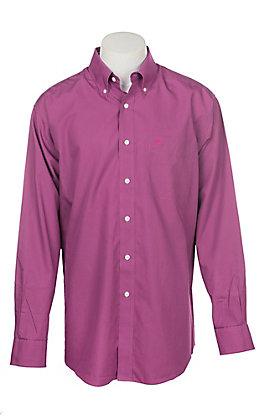 Ariat Men's Wrinkle Free Solid Hidden Orchid Long Sleeve Western Shirt