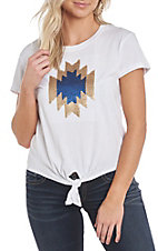 Ariat Women's Aztec Sequin Short Sleeve Casual Knit Top