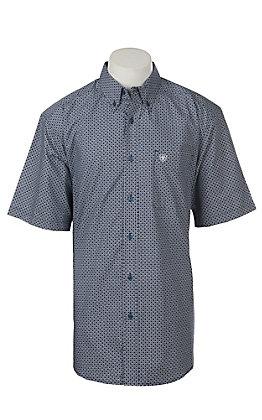 Ariat Men's Gaudy Short Sleeve Print Western Shirt